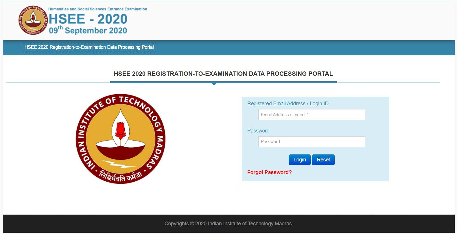 HSEE 2020 Result Declared, Check @hsee.iitm.ac.in
