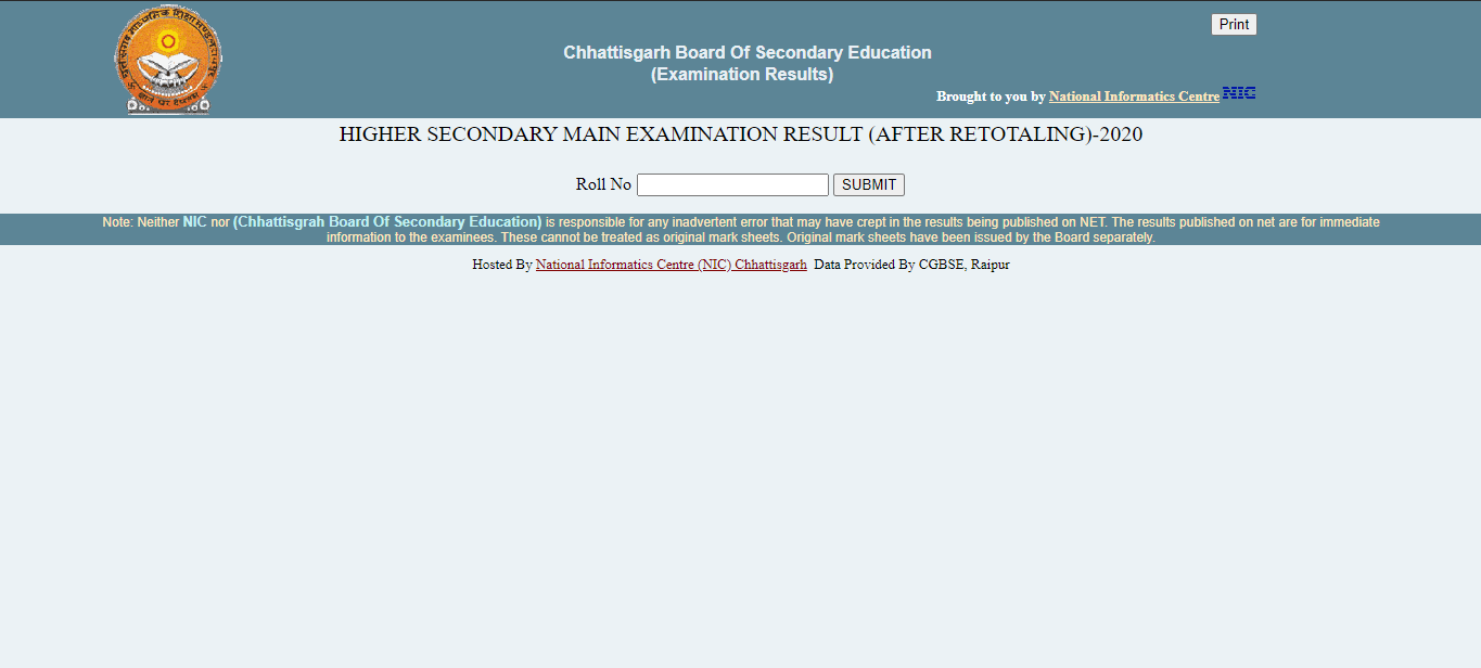 Chhattisgarh Board 10 and 12 Revaluation and Retotaling Result 2020 Declared @cgbse.nic.in