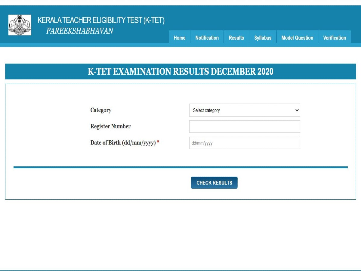 Kerala TET Results Declared @ktet.kerala.gov.in
